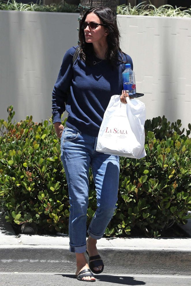 Courteney Cox at La Scala in Beverly Hills