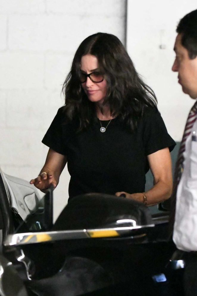 Courteney Cox at nails salon in Beverly Hills