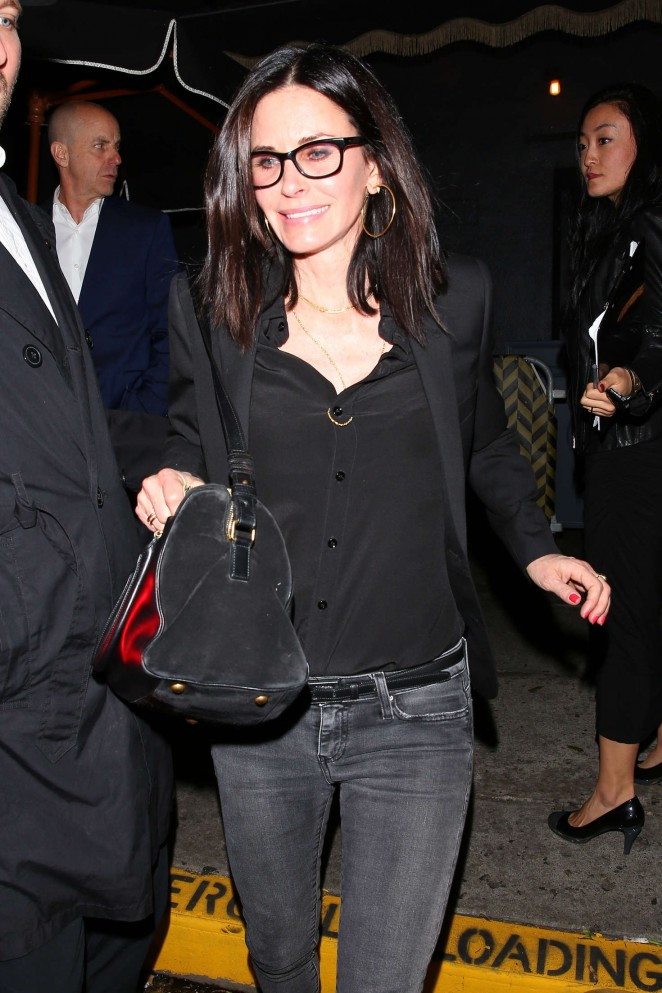 Courteney Cox at Reese Witherspoon's 40th Birthday Party in Los Angeles