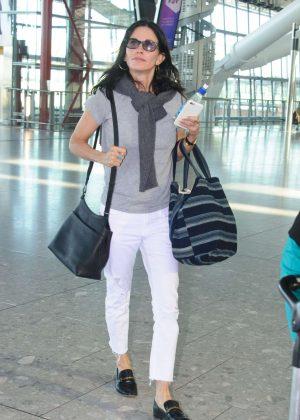 Courteney Cox - Heathrow Airport in London