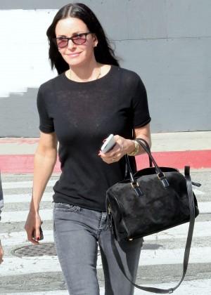 Courteney Cox in skinny jeans out in LA