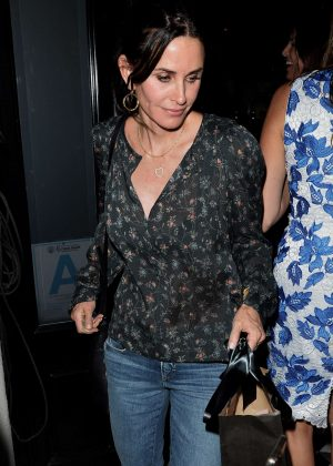Courteney Cox Leaves Dinner with Friends in LA