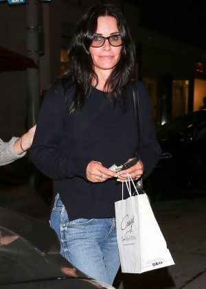 Courteney Cox Leaving Craig's restaurant in West Hollywood