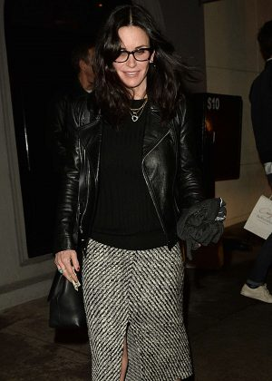 Courteney Cox - Leaving Craig's Restaurant in West Hollywood