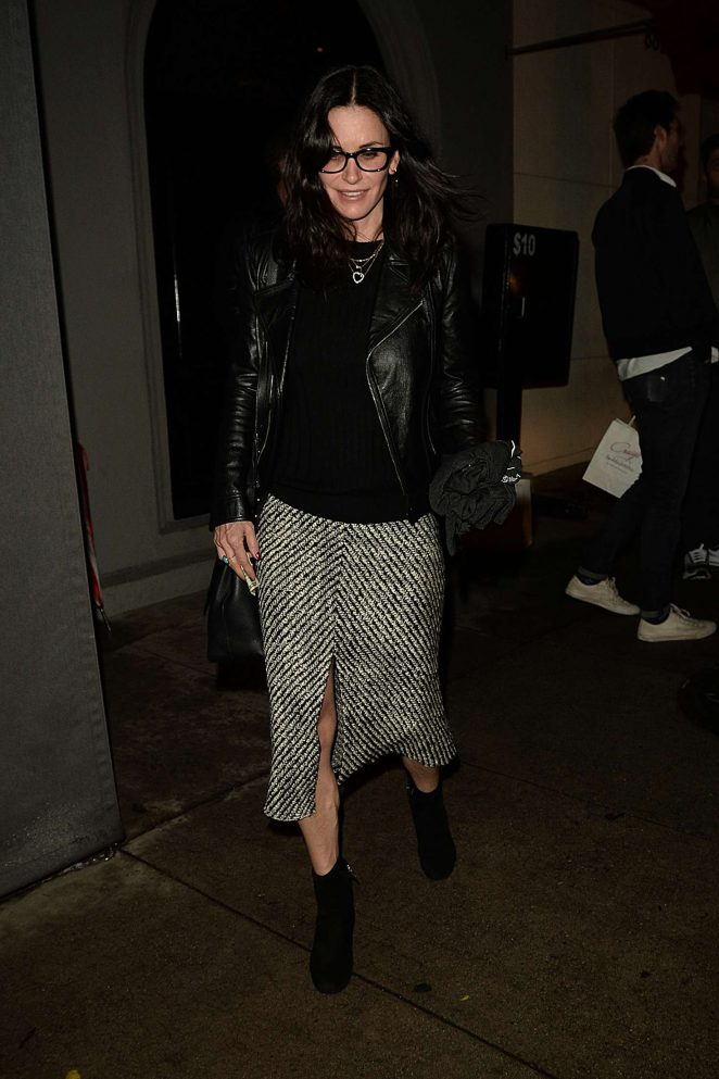 Courteney Cox: Leaving Craigs Restaurant -13