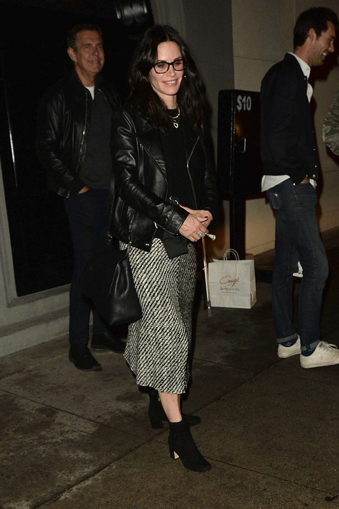 Courteney Cox: Leaving Craigs Restaurant -14
