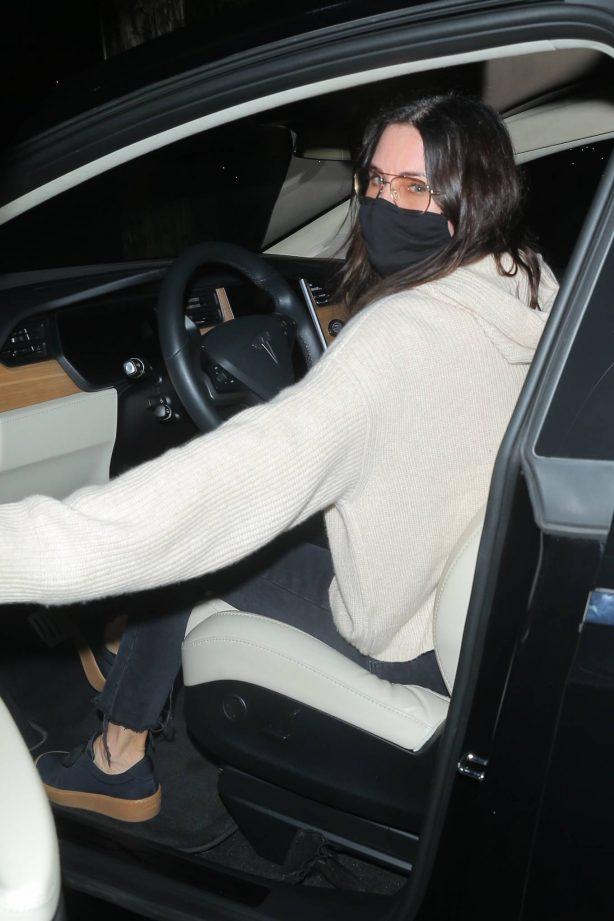Courteney Cox - Leaving dinner in Santa Monica