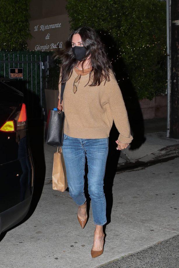 Courteney Cox - Night out at Giorgio Baldi in Santa Monica