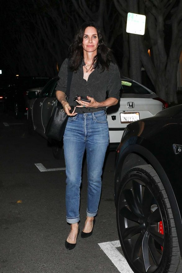 Courteney Cox - Night out in LA