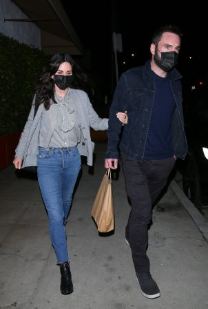 Courteney Cox - Night out to dinner in Santa Monica