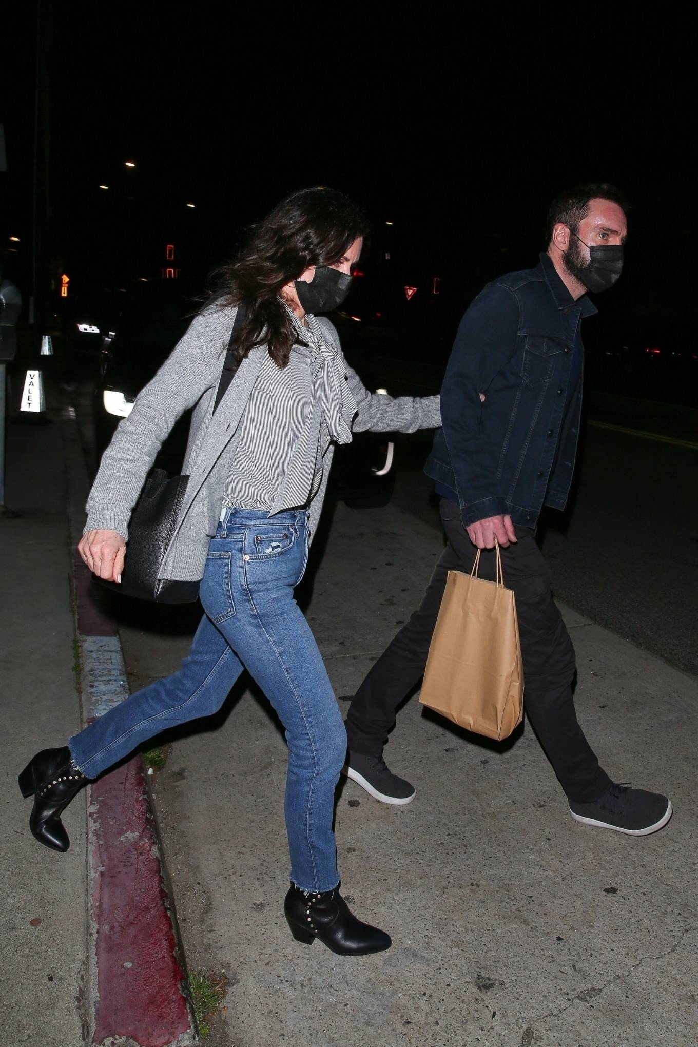 Courteney Cox 2021 : Courteney Cox – Night out to dinner in Santa Monica-14
