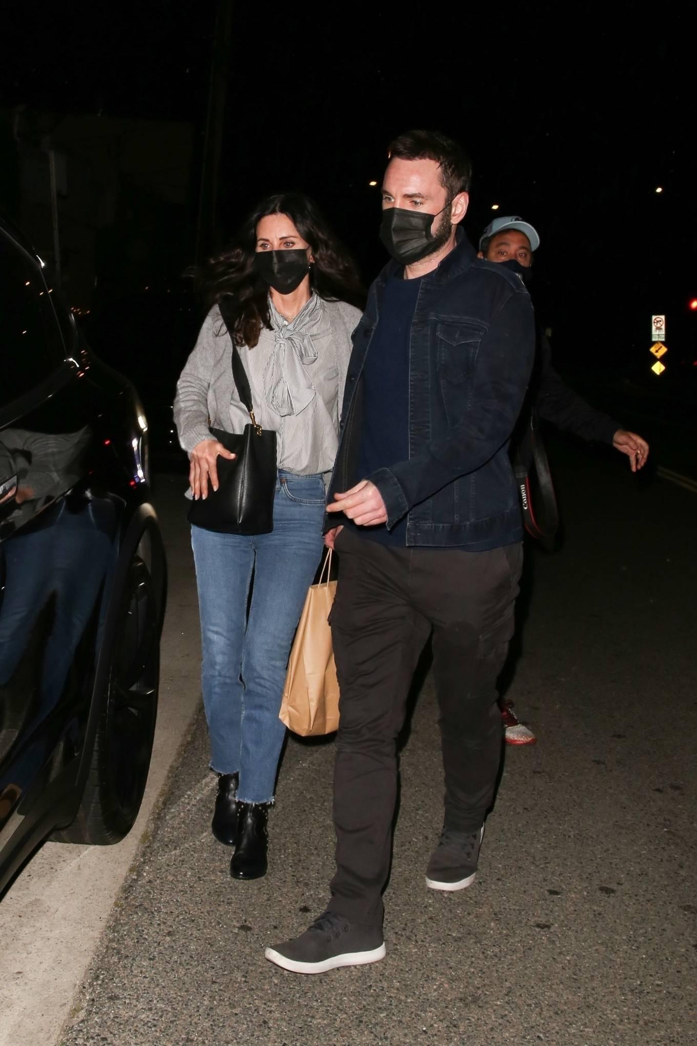 Courteney Cox 2021 : Courteney Cox – Night out to dinner in Santa Monica-24