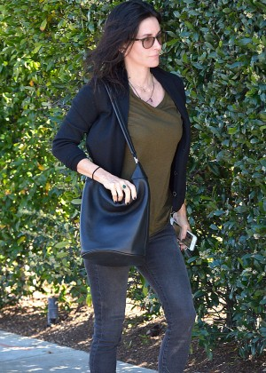 Courteney Cox in Jeans Out in Los Angeles