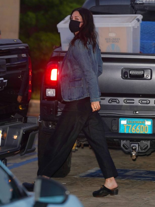 Courteney Cox - Out for dinner at Nobu in Malibu