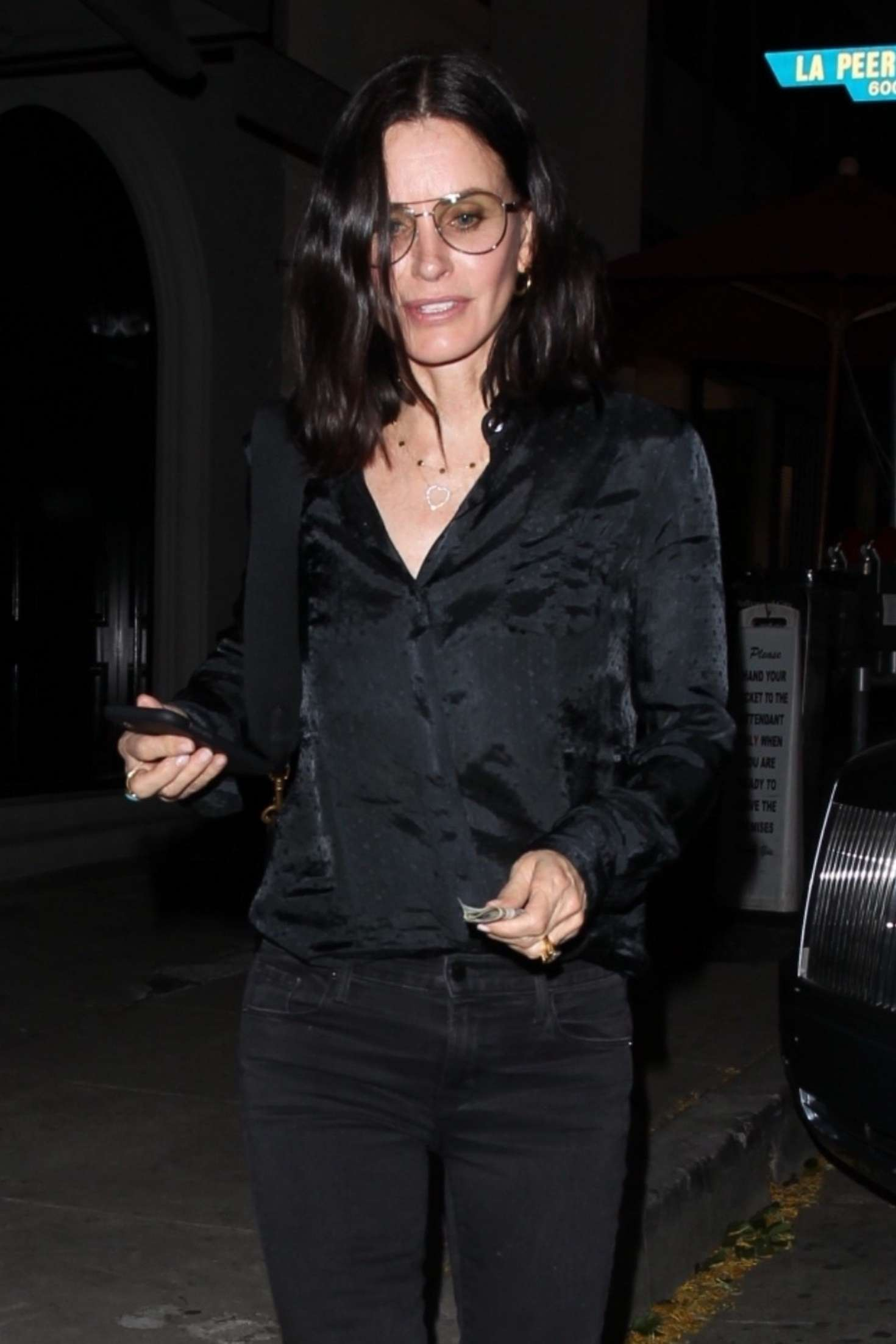 Courteney Cox - Outside Craig's restaurant in West Hollywood