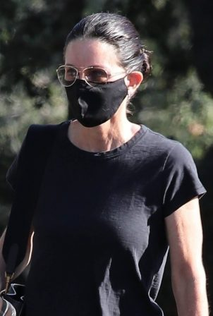 Courteney Cox - Seen after a visit to a spa in Malibu