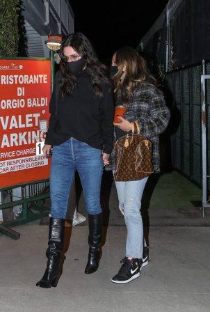 Courteney Cox - Seen leaving Giorgio Baldi in Santa Monica