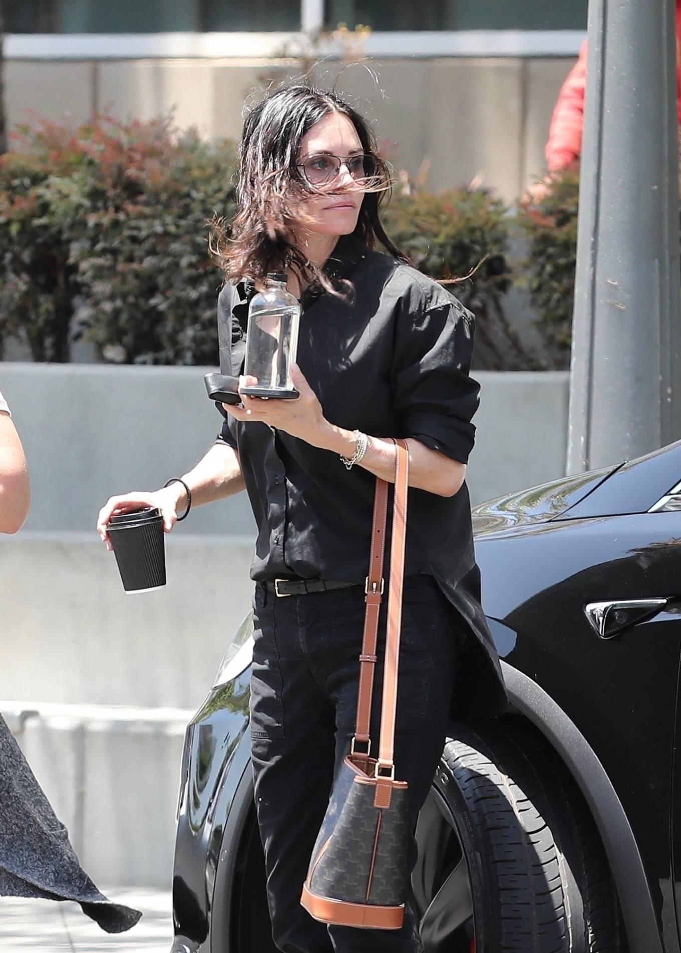Courteney Cox 2021 : Courteney Cox – Seen running errands in Santa Monica-07