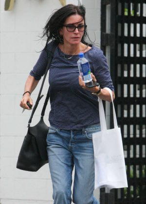 Courteney Cox shopping at Express in Beverly Hills