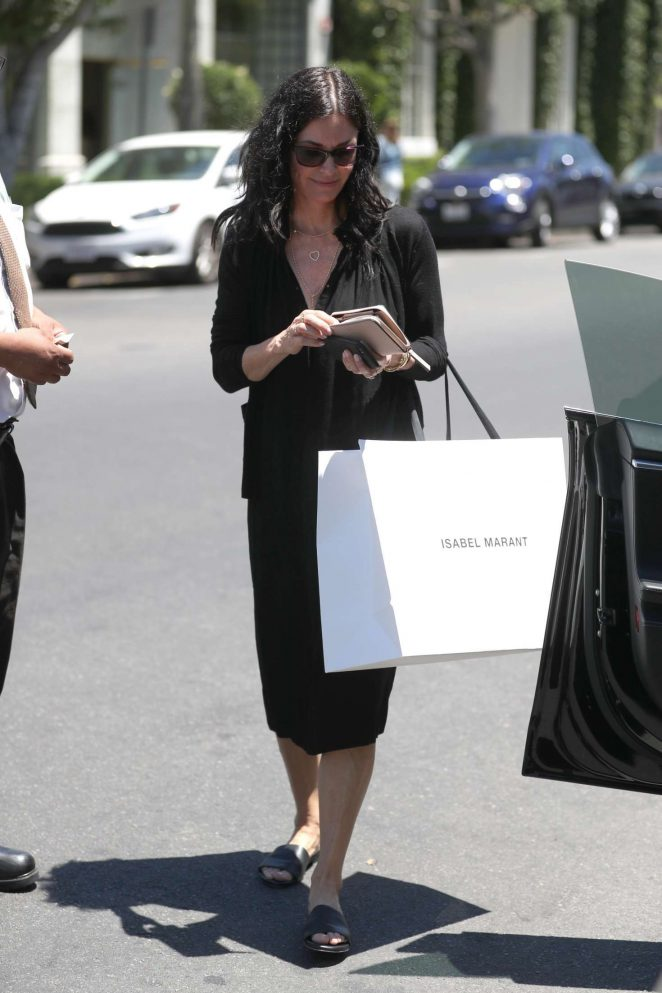 Courteney Cox shopping at Isabel Marant in West Hollywood