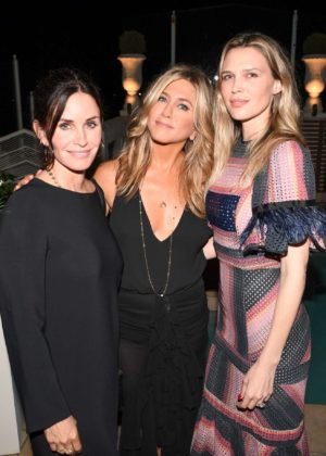 Courteney Cox - Tabitha Simmons by Jennifer Aniston dinner Sunset Tower in West Hollywood