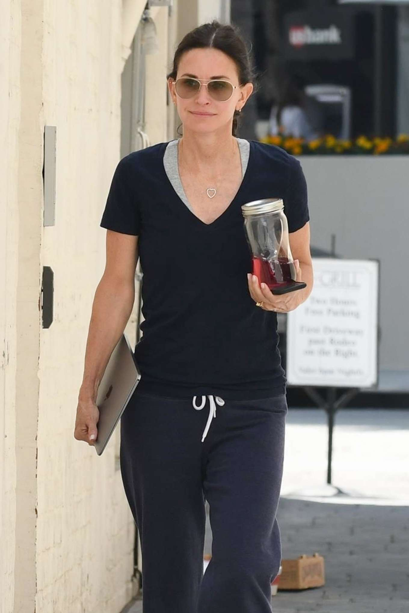 Courteney Cox - Visits a facial spa in Beverly Hills