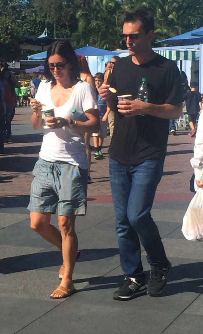 Courtney Cox at Disneyland