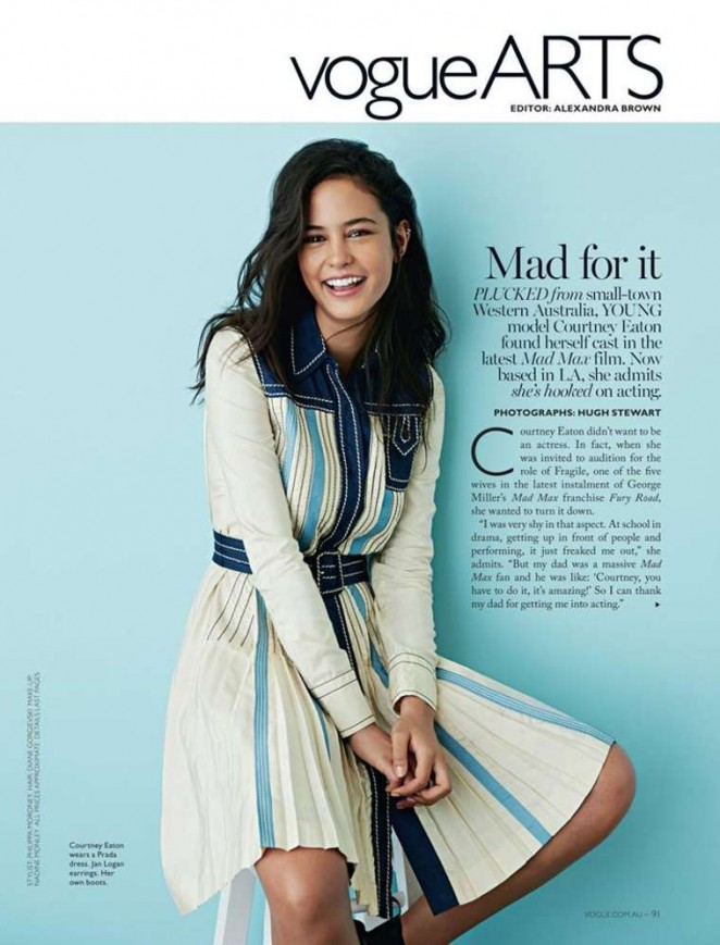 Courtney Eaton - Vogue Arts Magazine (May 2015)