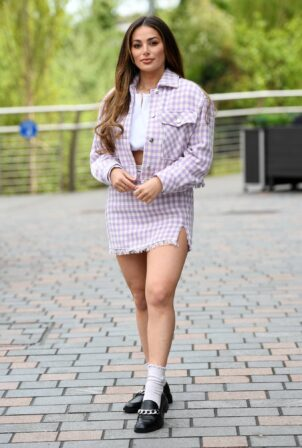 Courtney Green - The Only Way is Essex TV Show filming in Chelmsford