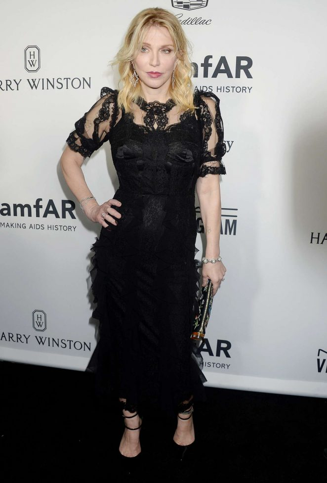 Courtney Love – 2016 amfAR Inspiration Gala in Los Angeles