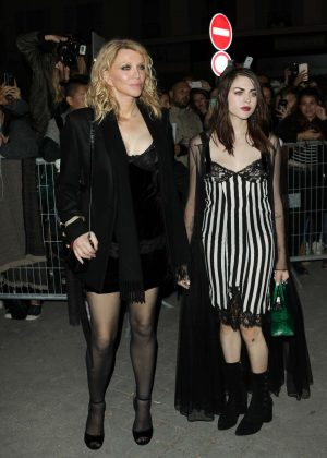 Courtney Love and Francis Bean Cobain - Givenchy Show 2017 in Paris