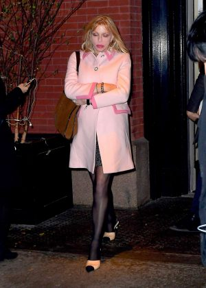 Courtney Love - Arrives at the Mercer Kitchen in New York City