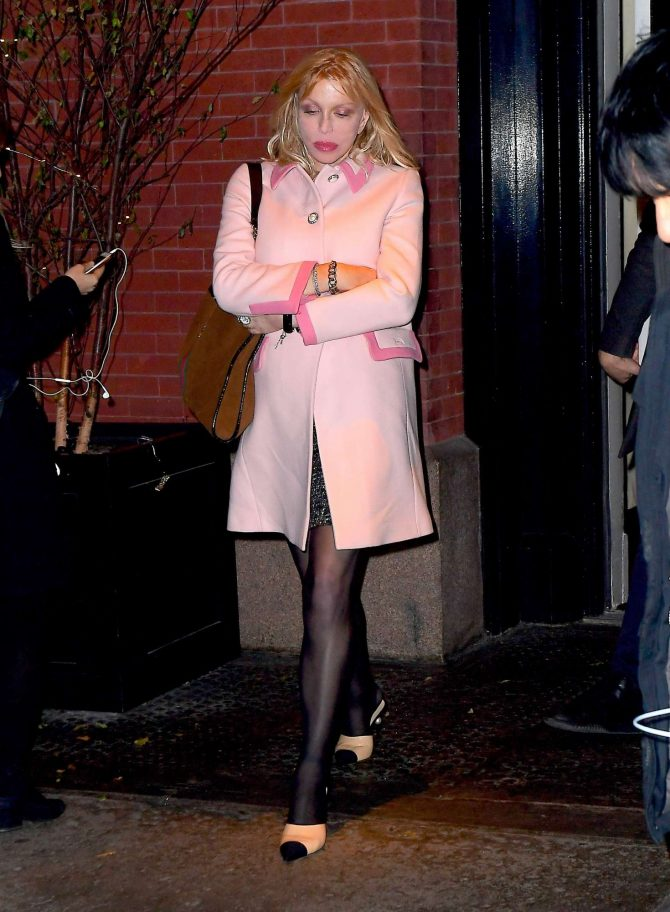 Courtney Love – Arrives at the Mercer Kitchen in New York City