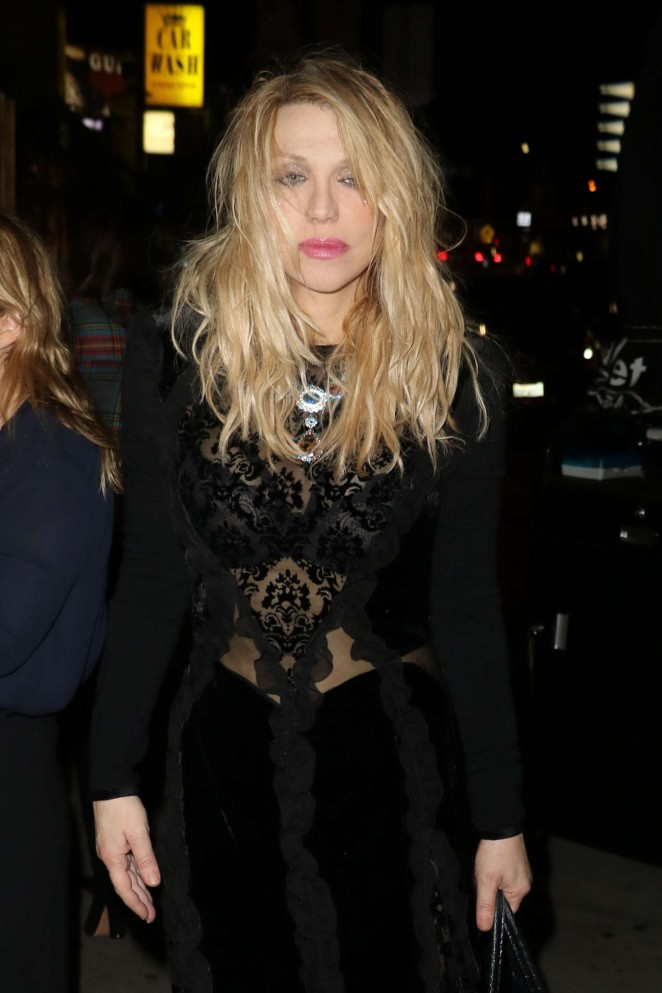 Courtney Love Arrives at The Nice Guy in West Hollywood