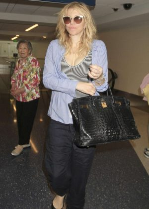 Courtney Love at LAX Airport in Los Angeles