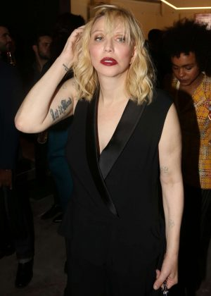 Courtney Love at Yves Saint Laurent night in Paris
