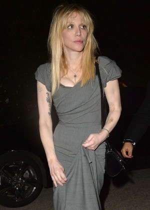 Courtney Love - Leaves a Pre Oscar Talent Agency Party in Los Angeles