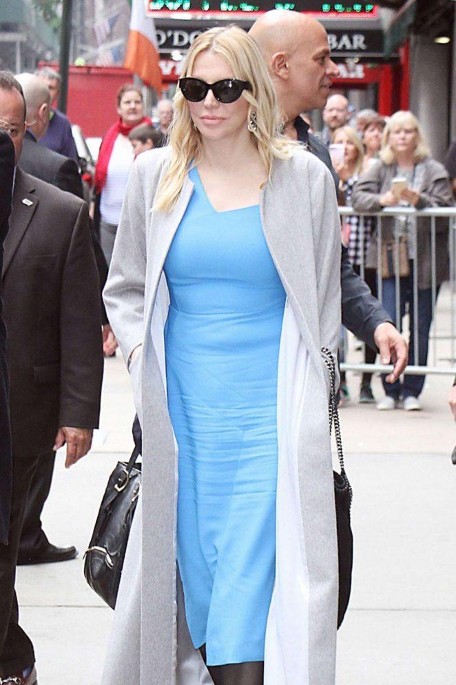 Courtney Love – Leaves Good Morning America in New York