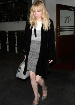 Courtney Love - Leaves Madeo Restaurant in West Hollywood