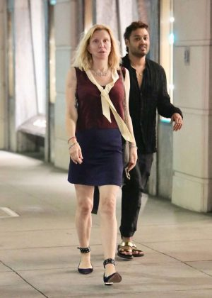 Courtney Love - Leaving Gucci in Beverly Hills
