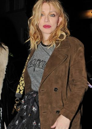 Courtney Love - Love Magazine Party at Lou Lou's in London
