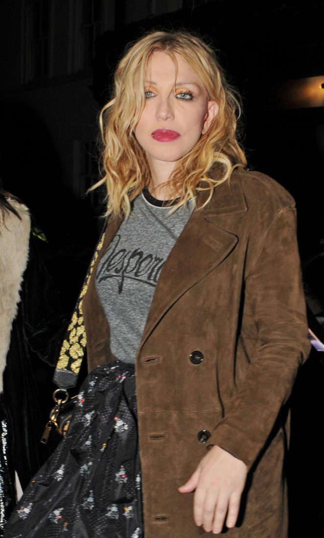 Courtney Love – Love Magazine Party at Lou Lou's in London