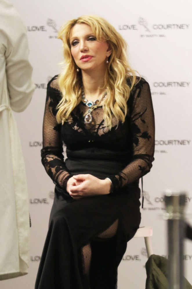 Courtney Love – New Collection Launch at Nasty Gal in West Hollywood