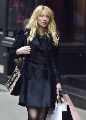 Courtney Love - Shopping at Agent Provocateur in New York