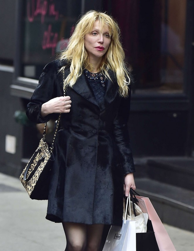 Courtney Love – Shopping at Agent Provocateur in New York