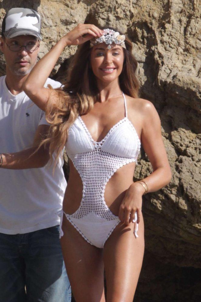 Courtney Sixx Photoshoot on the beach in California