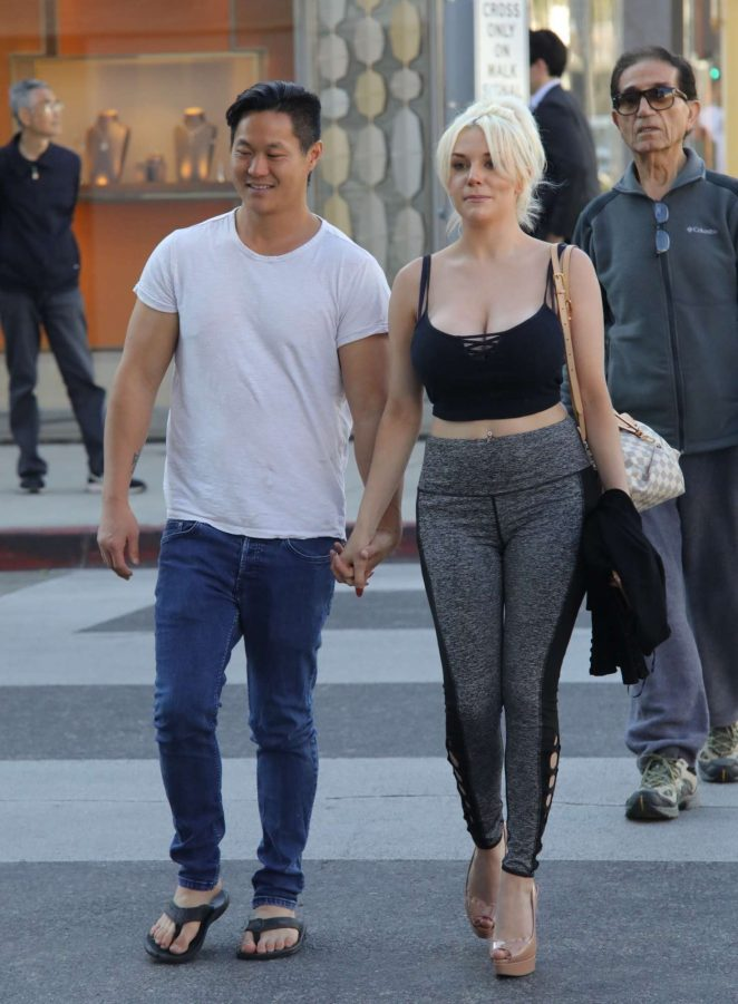 Courtney Stodden and Chris Sheng out in Beverly Hills