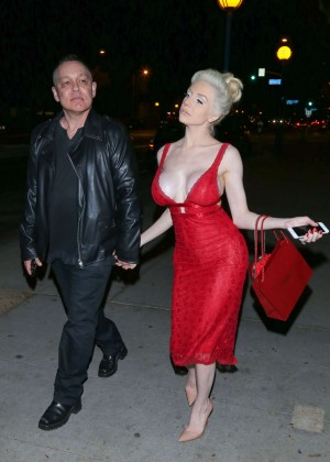 Courtney Stodden at Dan Tana's in West Hollywood