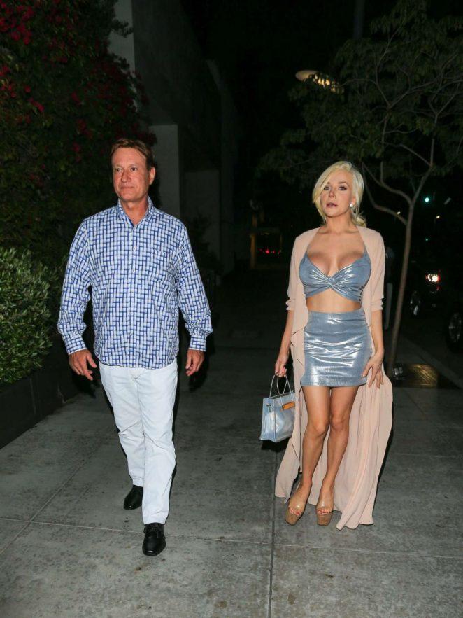 Courtney Stodden at Spago's Restaurant in Beverly Hills