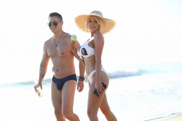 Courtney Stodden - In a bikini on the beach in Malibu